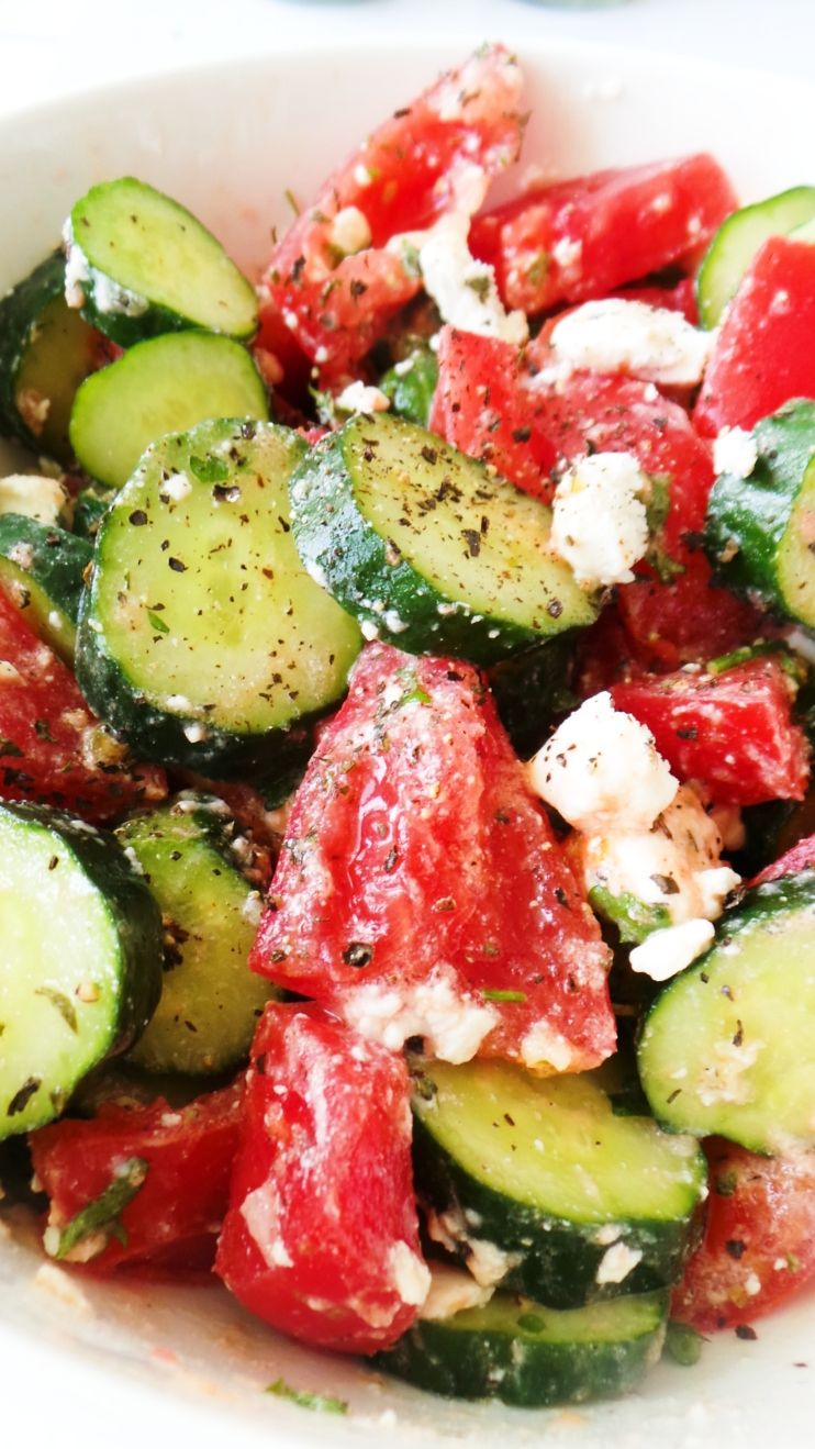 Tomato Cucumber Salad - Her Highness, Hungry Me