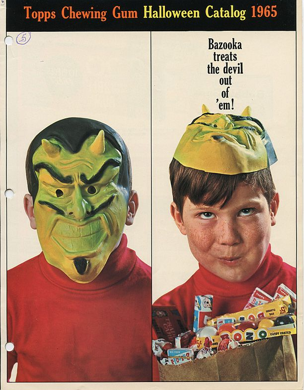 1965 Topps Chewing Gum Catalog Super Secret Club For The Ageless - halloween catalog