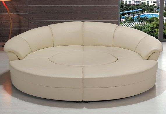 Modern Black Or White Circle Sectional Sofa By ContemporaryPlan