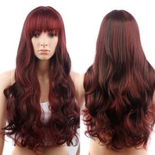 28In Red Ombre Wig False Hair Synthetic Wigs for Black Women Long Body Wave Cheap Wigs for Women Jenner Grey Wig Female Hair(China (Mainland))