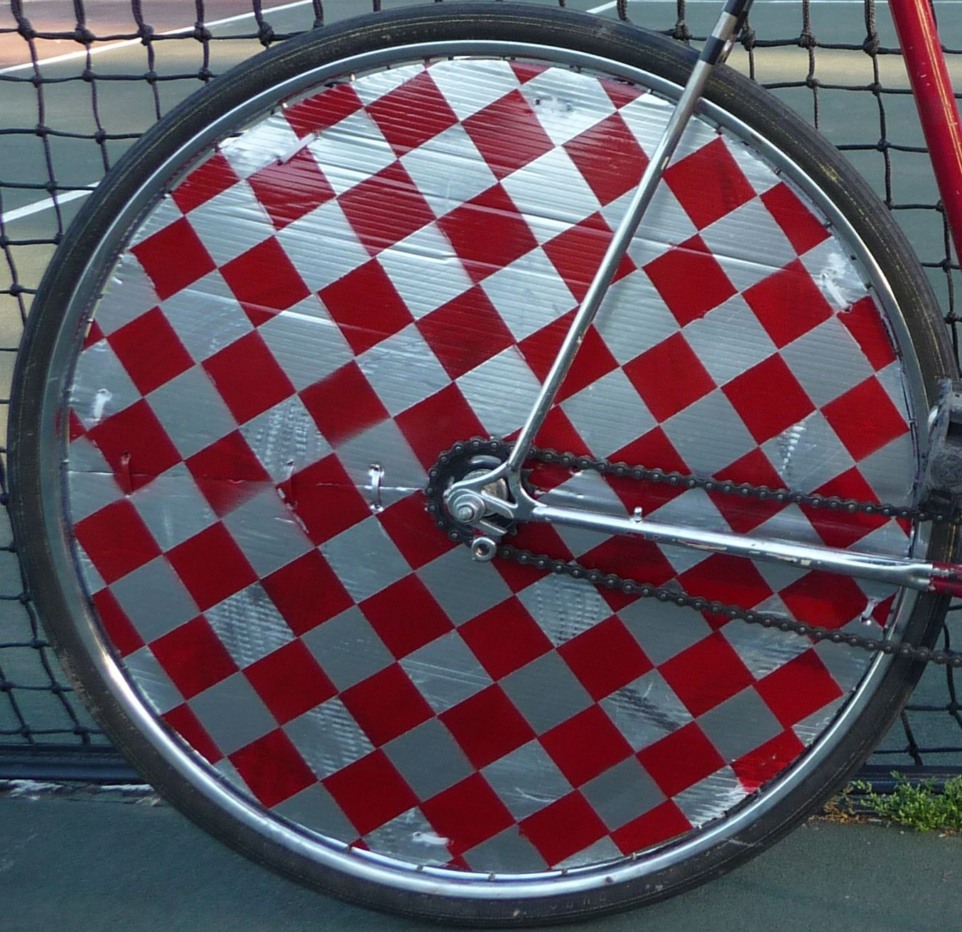 The Plastic Shield Keeps The Ball From Passing Through The Spokes