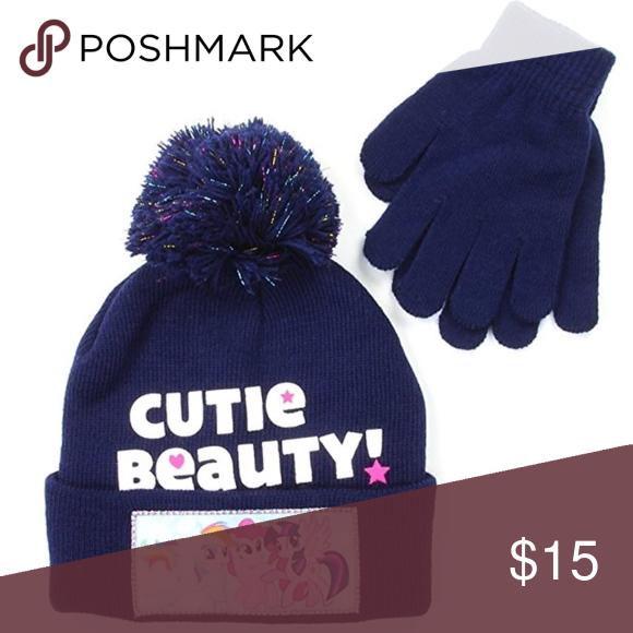 03535bb3377 My Little Pony Girls Winter Hat   Gloves Set. Girls Winter Hat   Gloves Set