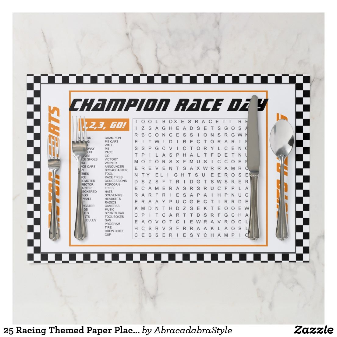 25 Racing Themed Paper Placemats Zazzle Com Personalized Party Decor Custom Paper Happy Birthday Cards