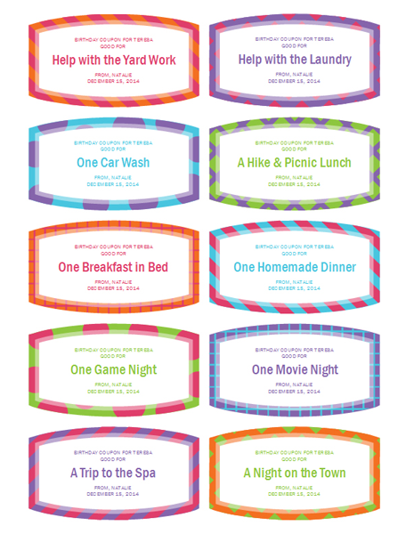 Coupon Word Template Birthday Gift Coupons  Templates  Office  Anniversary .
