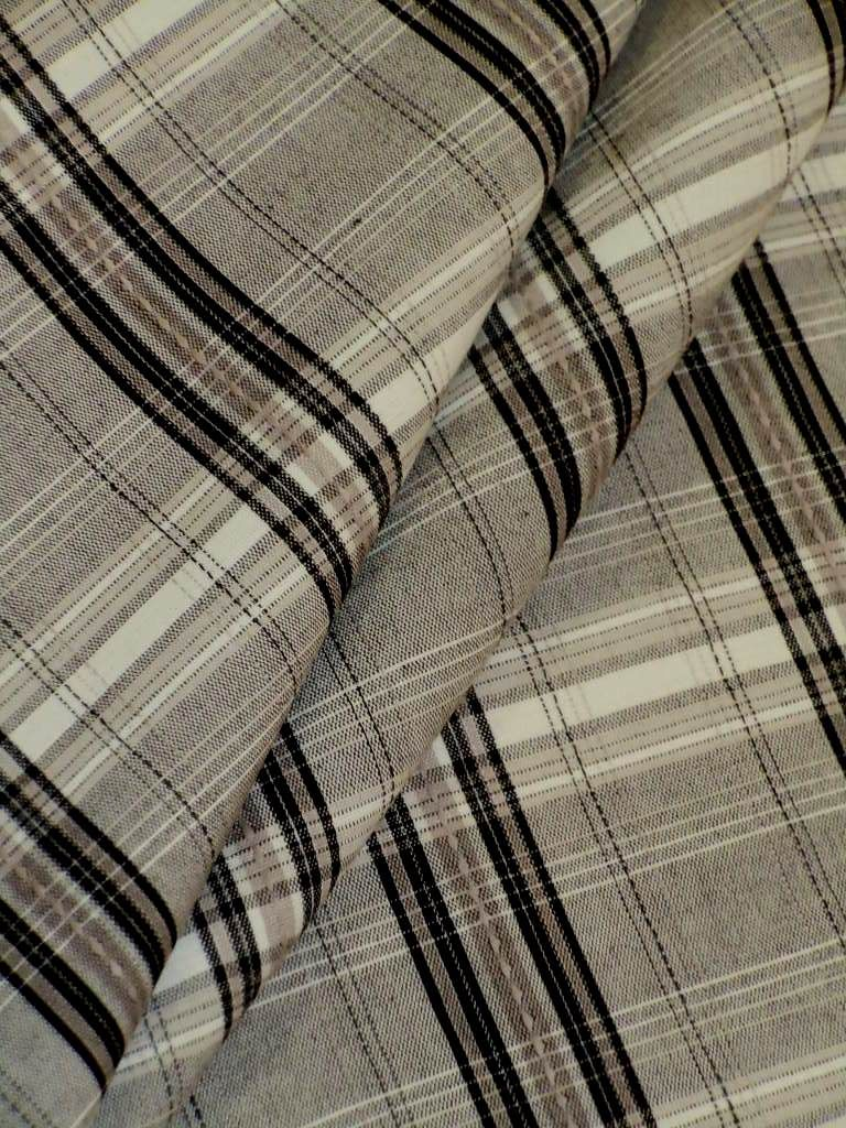 edgar pattern beringer color greystone black, gray and white plaid