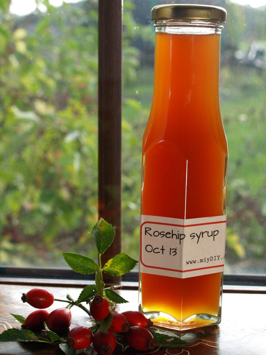 Rosehip Syrup Miydiy Com Edible Flowers Recipes Rosehip Syrup Flower Food