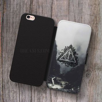 save off 40884 d07c4 Deathly Hallows Harry Potter Wallet Leather Case for iPhone 4s 5s 5C ...