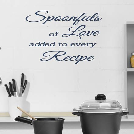 kitchen wall sticker quote by mirrorin kitchen wall stickers kitchen wall art quotes kitchen on kitchen decor quotes wall decals id=78984