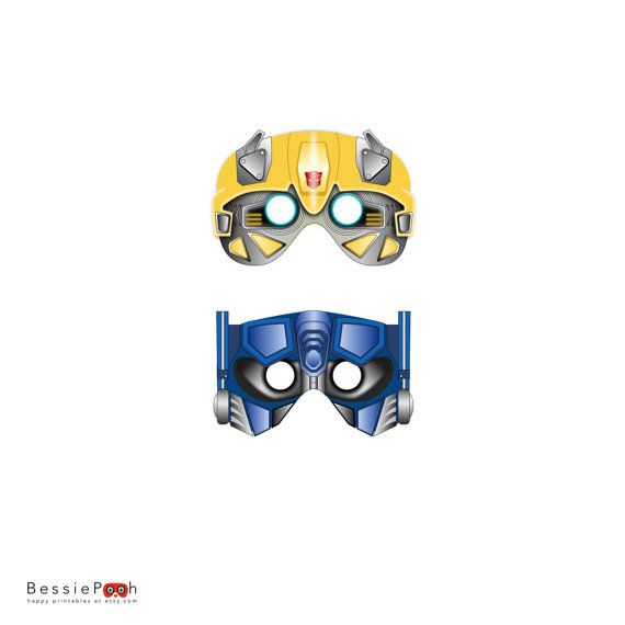 TRANSFORMERS MASKS Printable PDF File Instant Download Optimus Prime And Bumblebee
