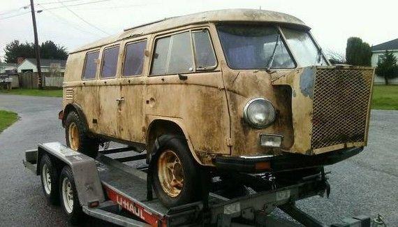 Flipped Baja 1959 Vw Bus Vw Bus Bus 4x4 Van