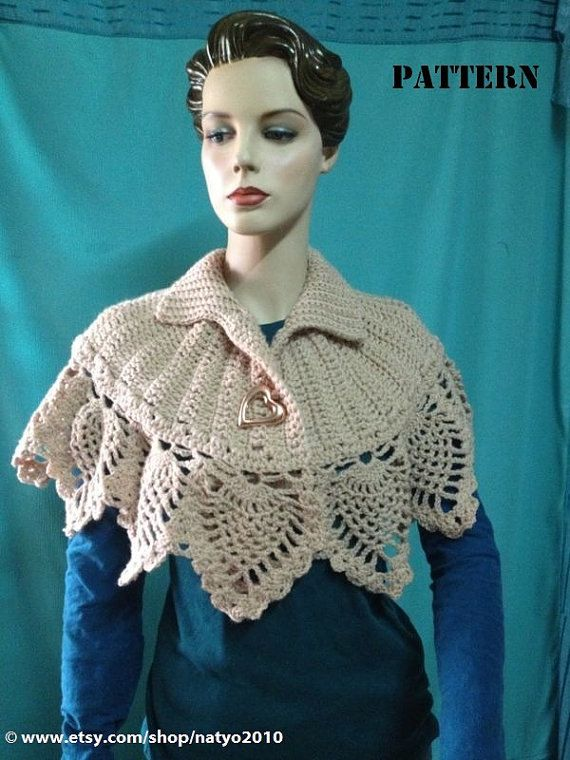 INSTANT DOWNLOAD Pineapples Capelet or Ponchos - Crochet Pattern ...
