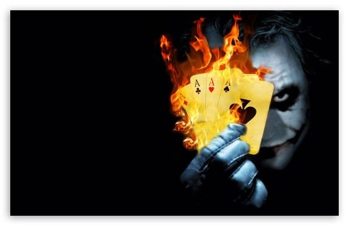 Download Burning Poker Joker Hd Wallpaper With Images Joker Hd
