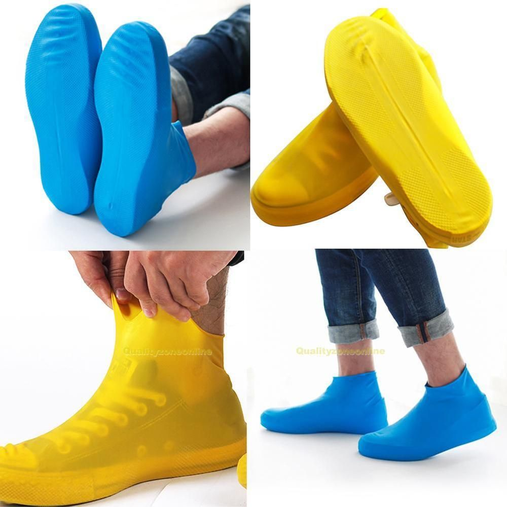 Waterproof Rain Boots Reusable Transparent Women Men Rubber Rain Shoes Cover
