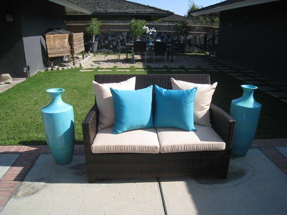 Encinitas: 5 Piece Outdoor Loveseat And Armchair Set   Unique Patio  Furniture Company