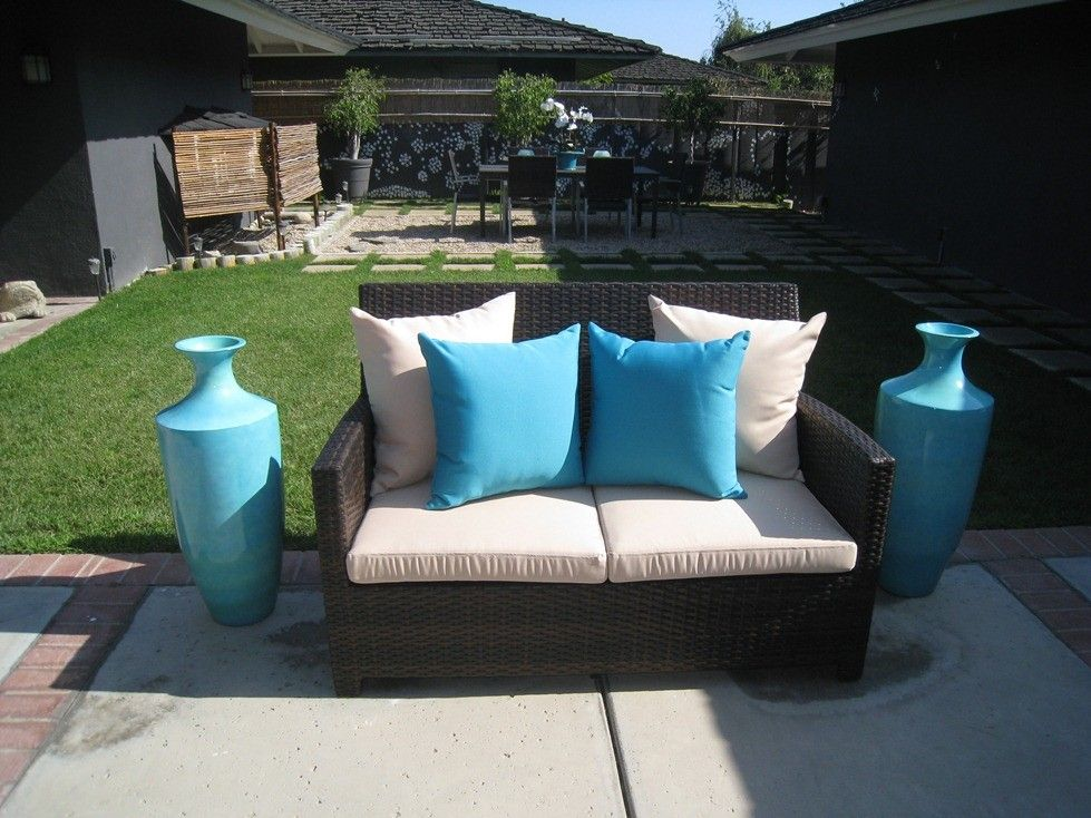 Captivating Encinitas: 5 Piece Outdoor Loveseat And Armchair Set   Unique Patio  Furniture Company