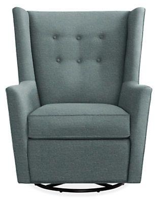 Wren Swivel Glider Chair Amp Ottoman In Tepic Fabric