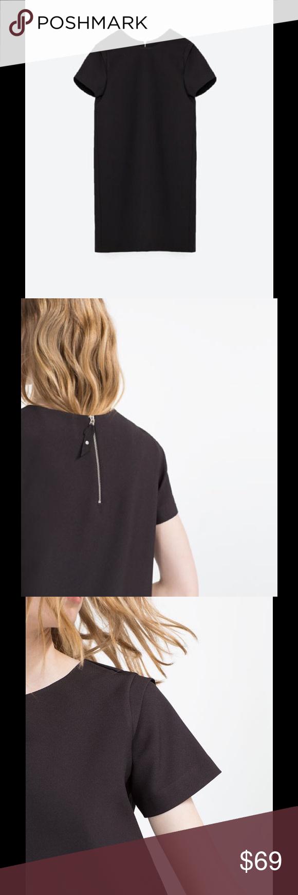 Zara zipper back dress nwt very thick material has