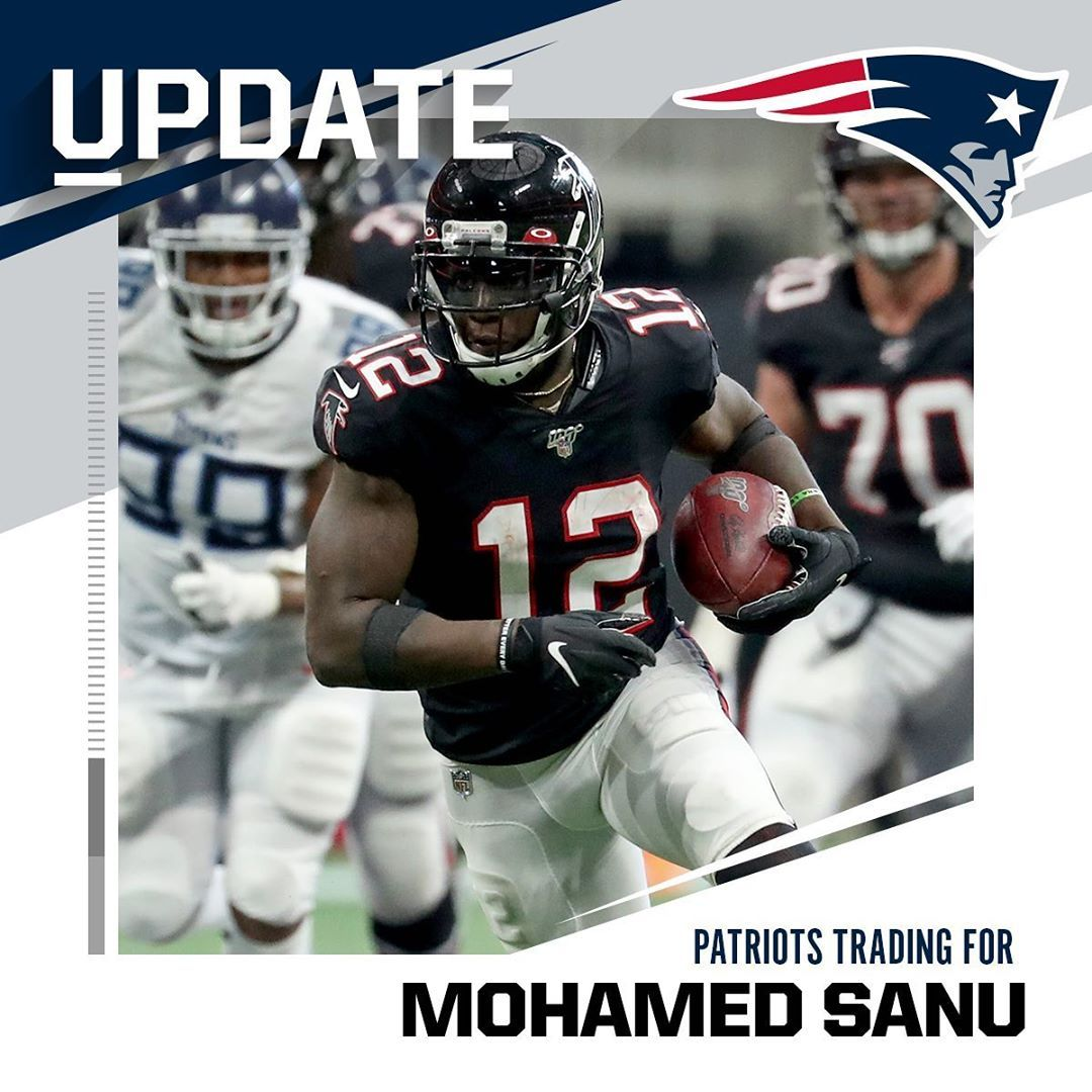 Nfl Trade Alert Atlantafalcons Trading Wr Mohamed Sanu To Patriots For Second R Big4 Bigfour Big4 Mohamed Sanu Funny Sports Memes Patriots