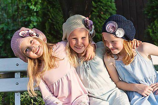 Rozosmiate baretky / LeonaS - SAShE.sk - Handmade Detské čiapky