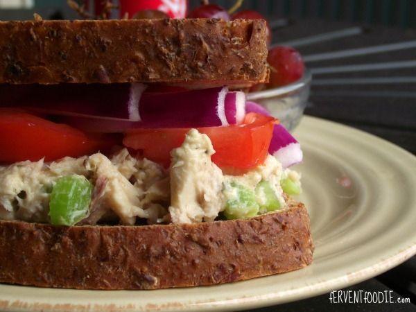200 calorie tuna salad recipe fervent foodie pinterest for Tuna fish salad calories