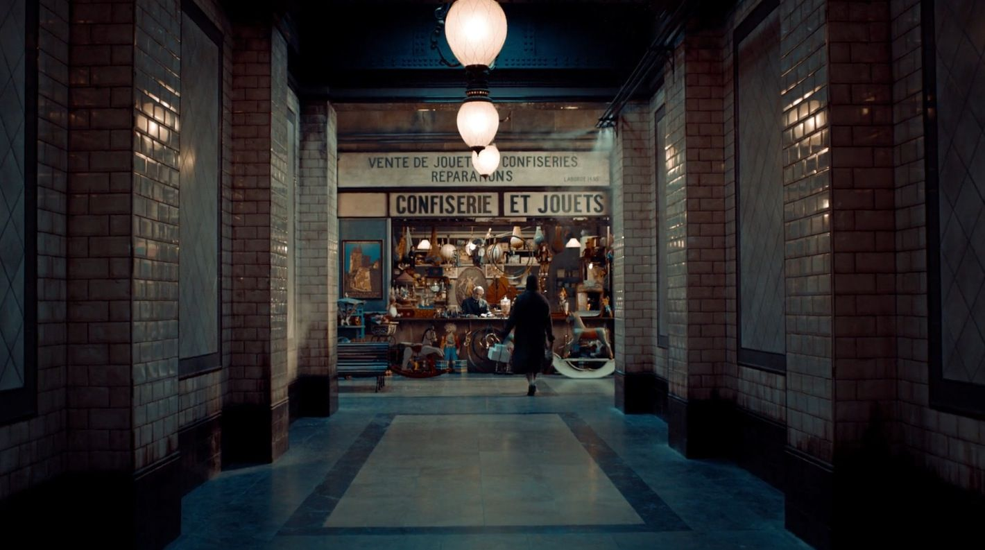 The Yellow Library Bookstore In Movie Hugo