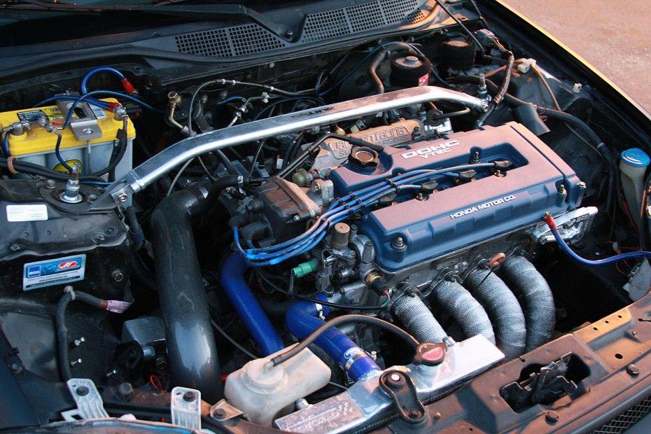 """Black Honda Civic """"Lola"""" Hondata S300, Engine: JDM B18C1"""