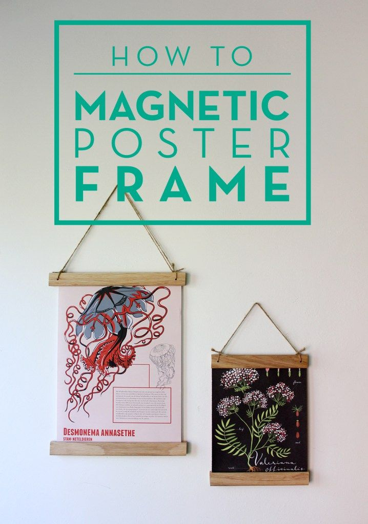 How to make a vintage looking magnetic poster frame | Get It ...
