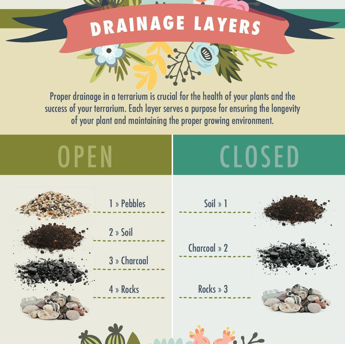 Image result for terrarium drainage