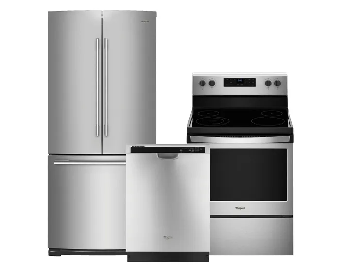 Whirlpool 3 Pc Appliance Package In Stainless 109770 109769 092193