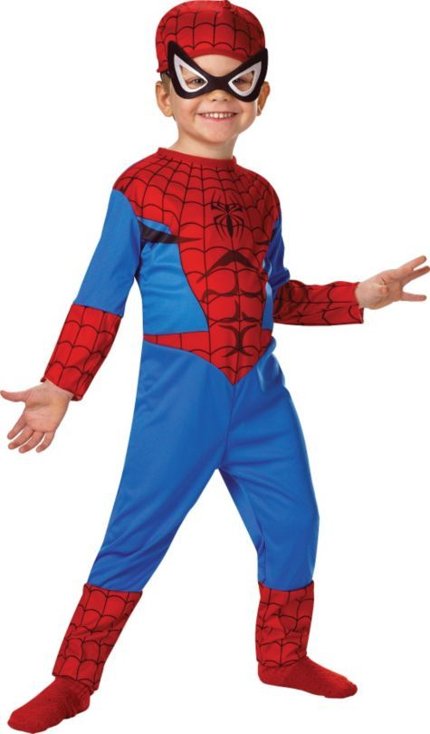 Classic Spiderman Costume for Toddler Boys - Party City  sc 1 st  Pinterest & Classic Spiderman Costume for Toddler Boys - Party City | Benny ...