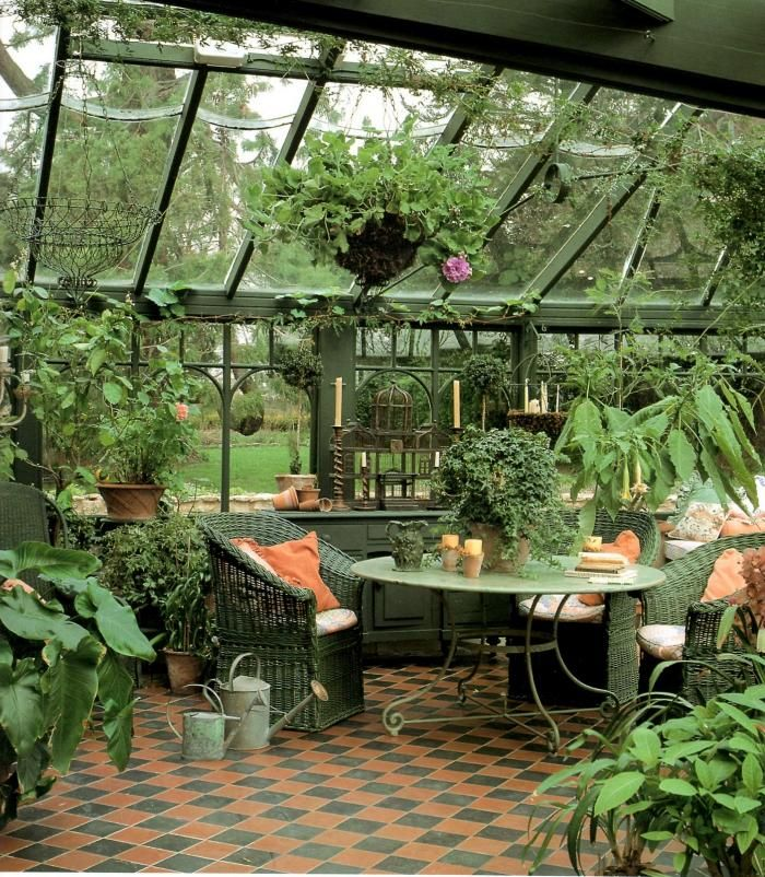veranda jardin | Jardin d'hiver, Serre bricolage, Idées jardin