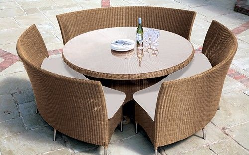 Looks Like A Space Saver And Its Elegant Wicker Patio Furniture Sets Outdoor Dining Furniture Clearance Outdoor Furniture