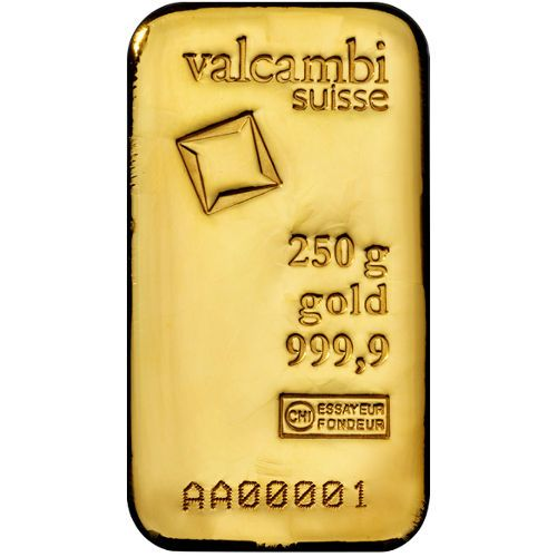 250 Gram Valcambi Cast Gold Bar New W Assay Gold Bullion Bars Gold Bullion Coins Buying Gold