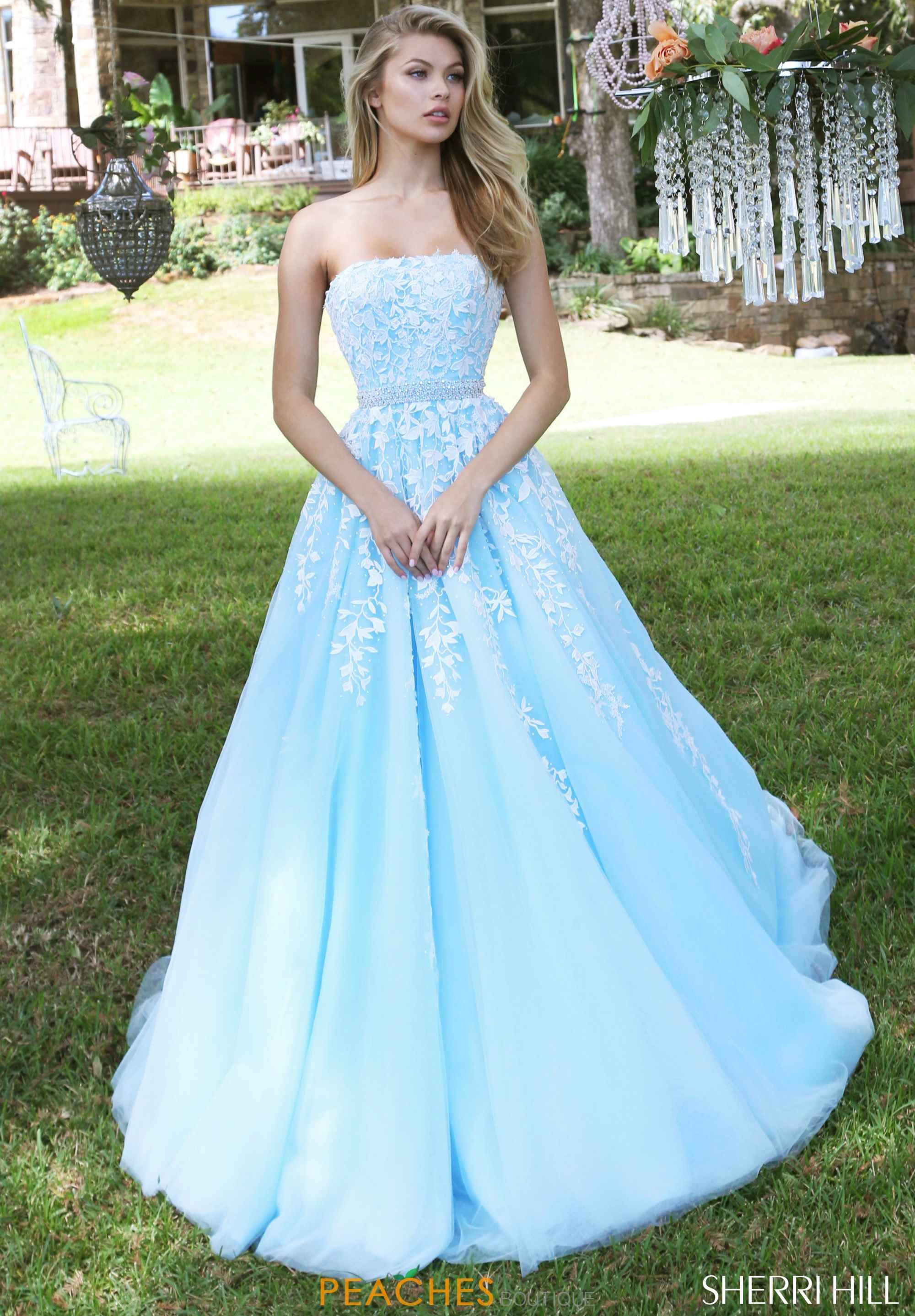 6c590aa62aa Strapless A Line Sherri Hill Dress 50864