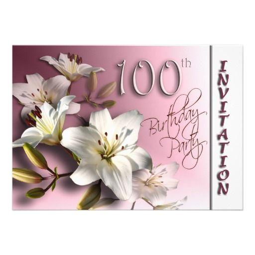 21 100th birthday invitation templates