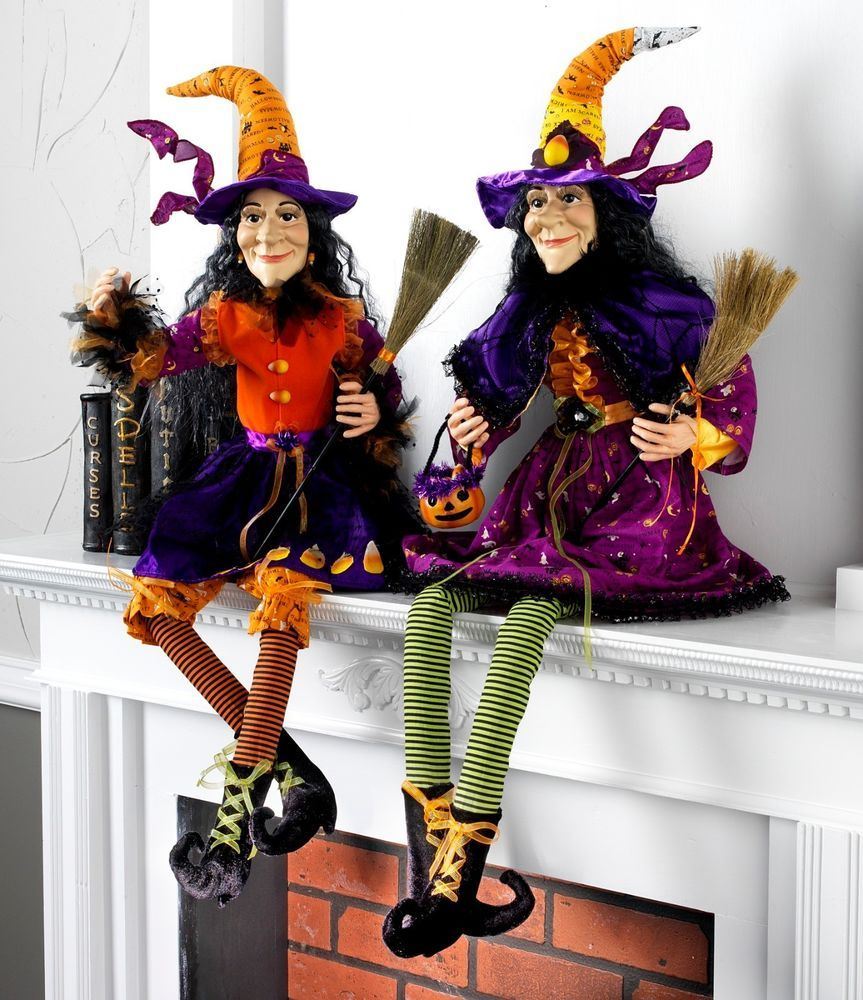 details about witch figure posable halloween decoration rzh 3319090or new raz imports