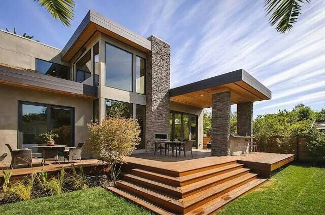 ♥ Modern rustic residential house