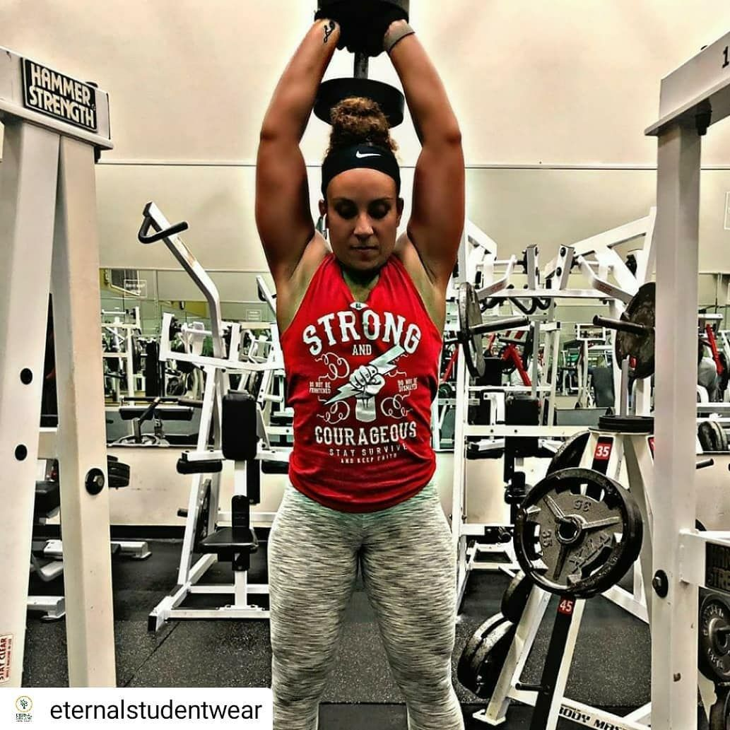 Thank You Fit Mama Sky For Supporting Our Brand Eternal Student To Get Your Be Strong Courageous Tank Top Visit Our We Fitness Fitness Motivation Fit Mama