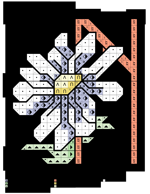 alfabeto delle margherite N