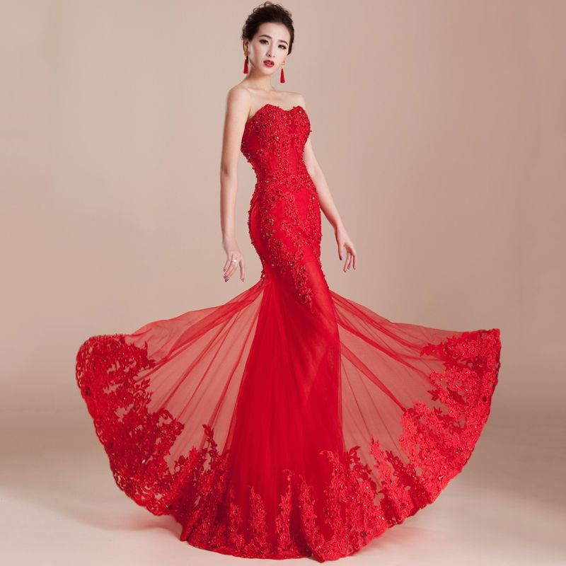 Vestidos de Novia Color Rojo | Beautiful Woman | Pinterest ...