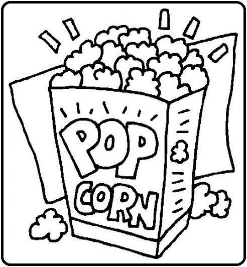 lekker popcorn kleurplaten gratis kleurplaten
