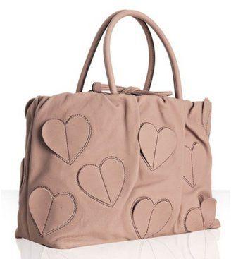 Dolce & Gabbana blush leather 'Heart' detail handbag