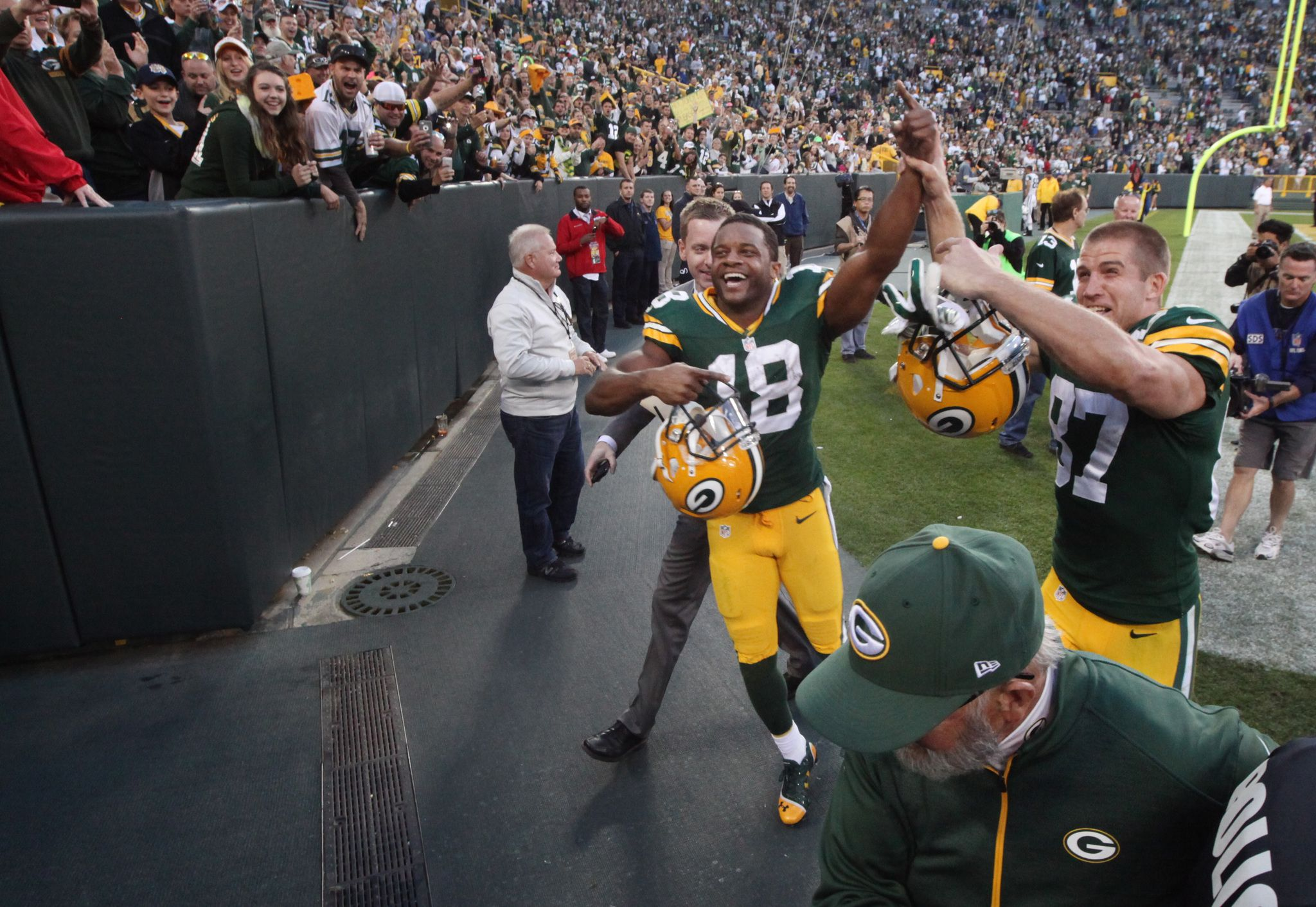 Packers 31 Jets 24 Jsonline Green Bay Packers Fans Jordy Nelson Green Bay Packers Merchandise