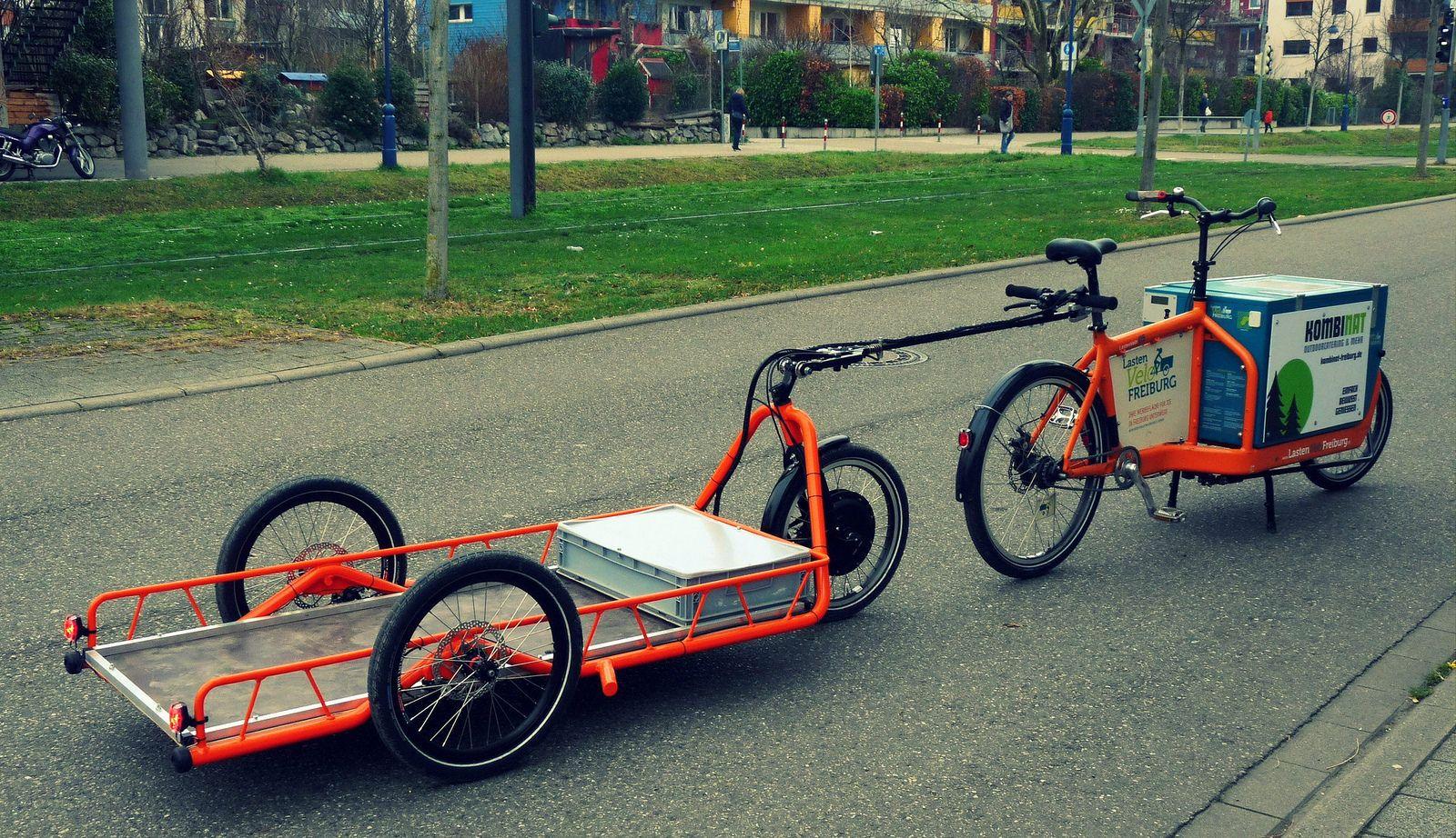 Carla Cargo Bicycle Trailer Orange Cityride Bike Cargo
