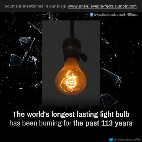 Worlds Longest Lasting Bulb