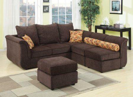 Acme Sectional Sofa Chocolate Gaming Table Amazon Com 15230 Caisy Chenille Fabric Set Finish Home Kitchen Savannah
