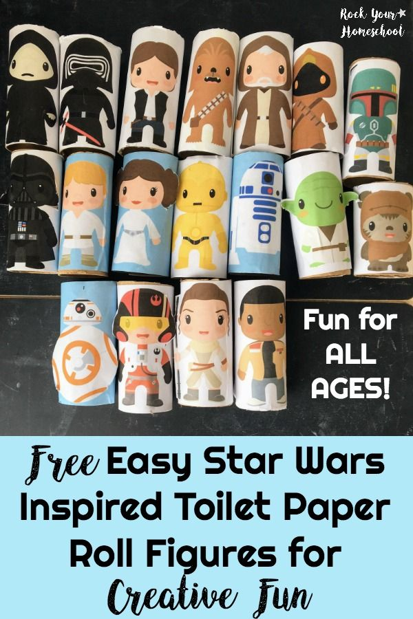 Free Easy Star Wars Toilet Paper Roll Figures For Creative Fun Star Wars Classroom Star Wars Activities Star Wars Crafts