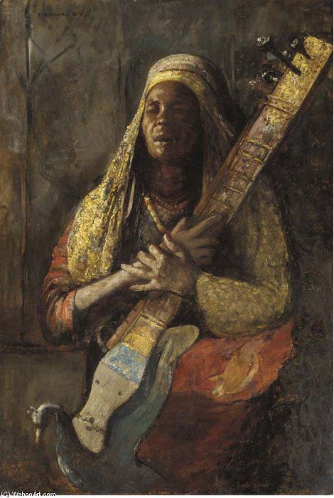 The Oriental Lute Player, by Gyula Tornai