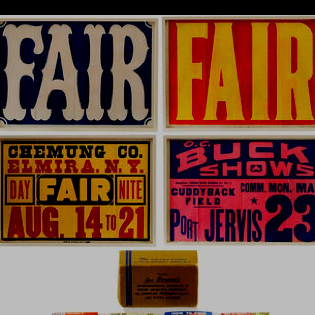 vintage 1950s county fair posters from pedlars | fun little