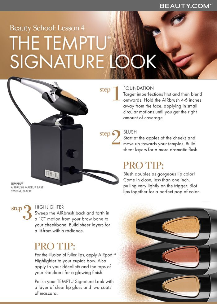 Get a perfect airbrush application at home with TEMPTU